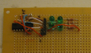 Larmie circuit on perf board